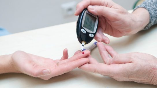 Blood sugar test.