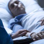 sick woman in hospital
