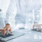 doctor using digital technology