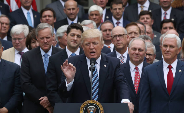 Trump and republicans speaking after house voted on health care bill