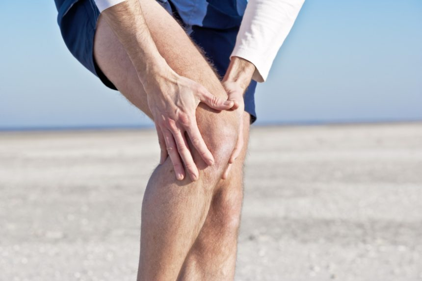 Man with joint pain in the knee