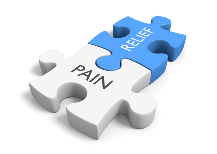 puzzle pieces illustrating pain relief
