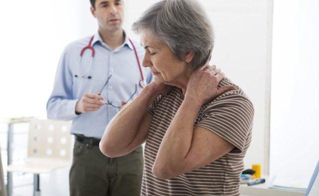 Patient with neck pain