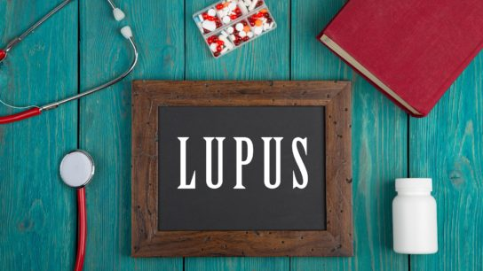 """Lupus"" written on blackboard"