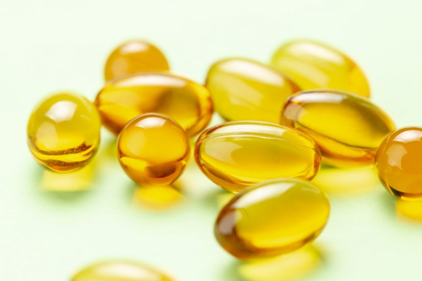 Vitamin D3 omega fish oil capsules