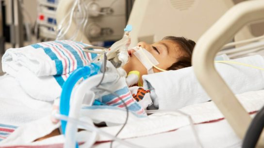 Pediatric patient in the intensive care unti.
