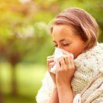 allergic rhinitis, woman blowing nose, allergies